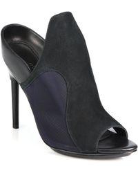 3.1 Phillip Lim Aria Suede, Leather & Mesh Mule Sandals - Lyst