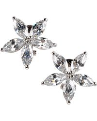 Cz By Kenneth Jay Lane Round Cubic Zirconia Stud Earrings - Lyst