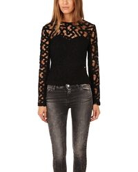 Yigal Azrouel Interlocking Chains Lace Top - Lyst