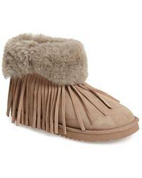 5f33382391f3 Koolaburra -  Haley Ii  Genuine Shearling Ankle Boot - Lyst