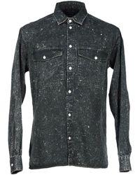 Surface To Air Denim Shirt black - Lyst