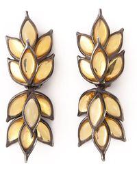 Yves Saint Laurent Vintage Blé Earrings - Lyst