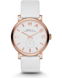 Marc By Marc Jacobs 36Mm Baker Rose Golden Leather-Strap Watch - Lyst