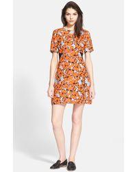 A.L.C. 'Nora' Floral Print A-Line Silk Dress - Lyst
