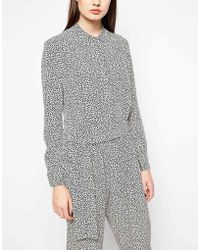 YMC - Printed Silk Jumpsuit - Lyst