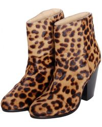 Rag & Bone Leopard Pony Hair Newbury Boot - Lyst
