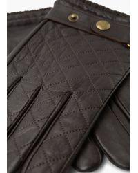 Mango - Tab Leather Gloves - Lyst
