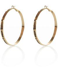 River Island Gold Tone Engraved Word Hoop Earrings - Lyst