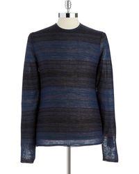Calvin Klein Striped Crew Neck Sweater - Lyst