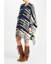 Maje | Knitted Poncho-style Cardigan | Lyst