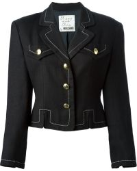Moschino Vintage Black Cropped Jacket - Lyst