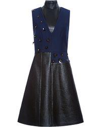 Peter Som - Wool Twill Coating Sleeveless Dress - Lyst