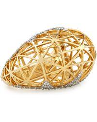 Ivanka Trump - 18k Liberte Dome Ring With Diamonds - Lyst