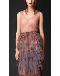 Burberry Pleated Tulle Vest - Lyst