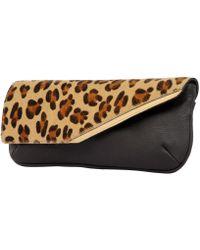 Laura De La Vega Pochette Josephin Leather Clutch Bag - Lyst