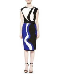 Ohne Titel Printed Side-Slit Knit Skirt - Lyst