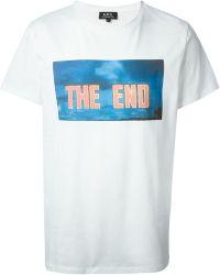 A.P.C. The End Cotton T-Shirt - Lyst