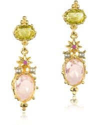 Les Nereides - Dazzling Discretion Faceted Glass Drop Earrings - Lyst