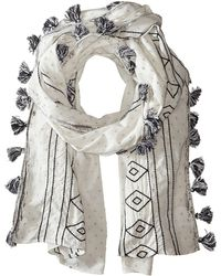 BCBGMAXAZRIA Dotty Embroidered Wrap Scarf - Lyst