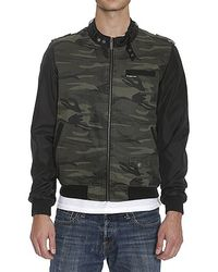 Members Only Men'S Camouflage Racer W/ Nylon Sleeves - Lyst