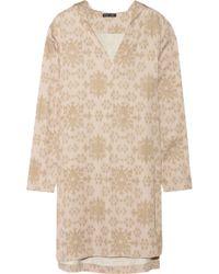 Baja East - Hooded Ikat-Print Cady Dress - Lyst