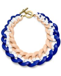 Tory Burch - Resin Link Color-Block Necklace - Lyst
