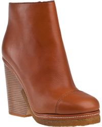 Marc By Marc Jacobs 636985 Ankle Boot Tan Leather - Lyst