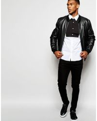 Wincer & Plant - Smart Shirt With Contrast Bib Front Slim Fit Exclusive - Lyst