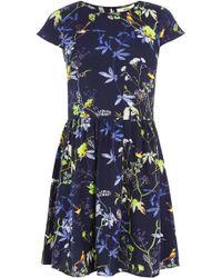 Oasis Bird Skater Dress - Lyst