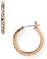 T Tahari - Classic Hoop Earrings - Lyst