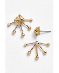 Rebecca Minkoff 'Pearl Stud' Cutout Fan Stud Earrings - Lyst