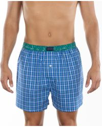 Tommy Hilfiger Mens Plaid Woven Boxers - Lyst