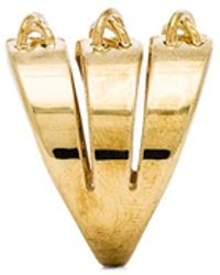 Rachel Zoe Stitches Stacked Ring - Lyst