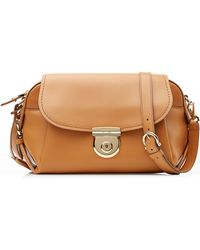 Ferragamo Fiamma Leather Shoulder Bag - Lyst