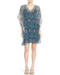 Ella Moss - 'lorelei' Silk Tunic Dress - Lyst