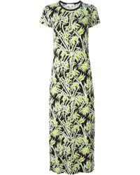 MICHAEL Michael Kors Foliage Print Maxi Dress - Lyst
