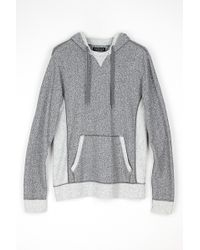 Velvet By Graham & Spencer Scooter Contrast Fleece Hoodie gray - Lyst