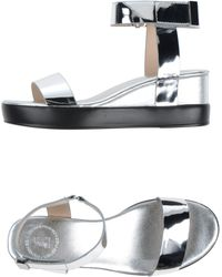 French Connection Sandals silver - Lyst