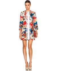 Carven Floral Print Jacquard Dress multicolor - Lyst