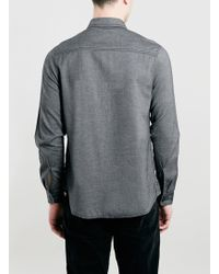 LAC - Ltd Grey Textured Shirt - Lyst
