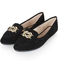 Topshop Serpent Slipper Shoes - Lyst