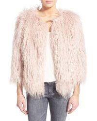 Pam & Gela - 'mongolian' Faux Fur Coat - Lyst
