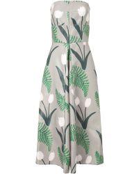 Suno Tulip Print Strapless Dress - Lyst