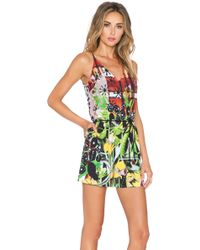 Clover Canyon - Amber Plaid Romper - Lyst
