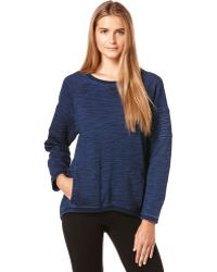 C&c California Heathered Drop Sleeve Pullover - Lyst