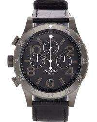 Nixon 48-20 Chrono Leather - Lyst