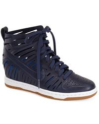 low priced de5e2 d72ce Nike dunk Sky Hi Joli Hidden Wedge Sneaker Lyst . ...
