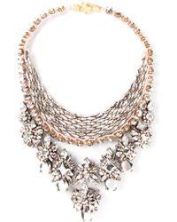 Shourouk 'River Comet' Necklace silver - Lyst