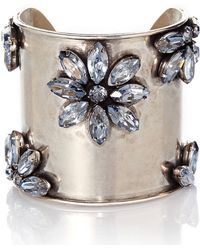 Janis By Janis Savitt | Silver-Tone Flower Cuff | Lyst