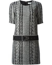Viktor & Rolf Black Jacquard Dress - Lyst